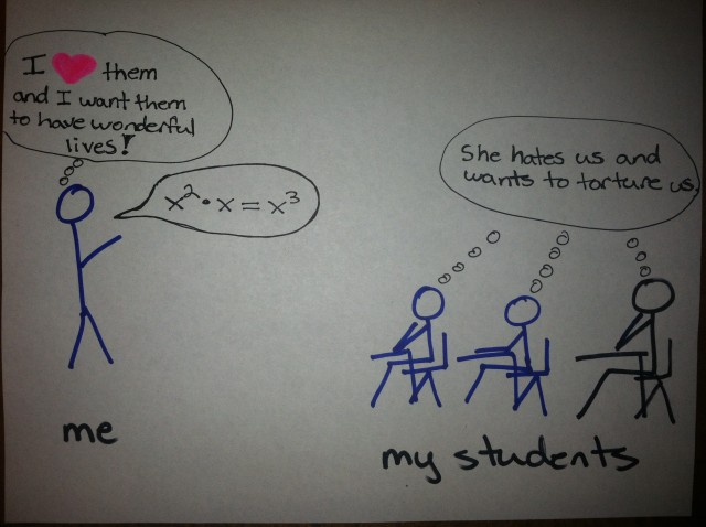 A cartoon I made about teaching math.