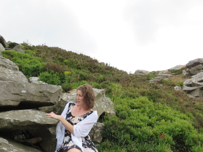 Cathy on the moors